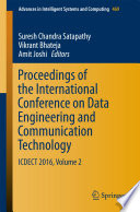 Proceedings of the International Conference on Data Engineering and Communication Technology