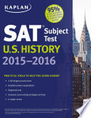 Kaplan SAT Subject Test U S  History 2015 2016