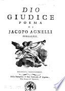 Dio giudice poema di Jacopo Agnelli ferrarese