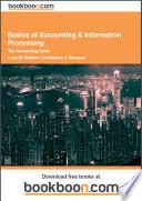 Basics of Accounting   Information Processing