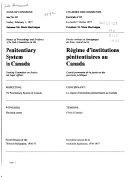 Minutes of Proceedings and Evidence of the Sub-Committee on the Penitentiary System in Canada Procès-verbaux Et Témoignages Du Sous-comité Sur Le Régime D'institutions Pénitentiaires Au Canada
