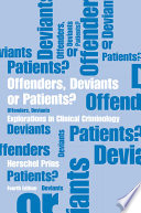 Offenders  Deviants or Patients  Fourth Edition