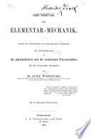 Grundzüge der Elementar-Mechanik