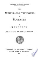 Book The Memorable Thoughts of Socrates