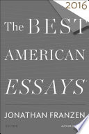 Book The Best American Essays 2016