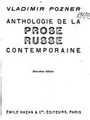 Anthologie de la Prose Russe Contemporaine