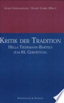 Kritik der Tradition