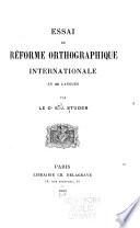 Essai de réforme orthographique internationale en 40 langues