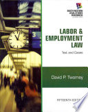 Labor and Employment Law  Text   Cases