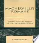 illustration du livre Machiavelli's Romans