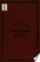 Monthly Record Of Scientific Literature