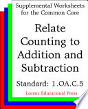 CCSS 1 OA C 5 Relate Counting to Addition and Subtraction