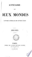 Annuaire Des Deux Mondes Histoire Générale Des Divers États