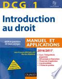 DCG 1 - Introduction au droit 2016/2017 - 10e éd. - Manuel et Applications, QCM
