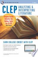 CLEP Analyzing   Interpreting Literature Book   Online