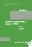 Numerical Mathematics Singapore 1988