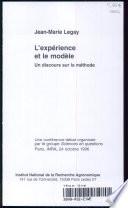 illustration L'expérience et le modèle