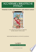 Accademie   Biblioteche d Italia 1 4 2011