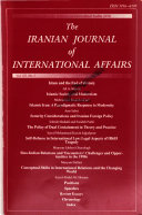 The Iranian Journal of International Affairs