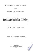 Report of the Secretary of the Iowa State Agricultural Society  for the Year