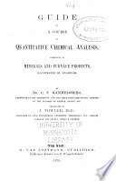 Guide to a Course of Quantitative Chemical Analysis