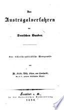 Das Austrägalverfahren des Deutschen Bundes