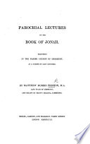 Parochial Lectures on the Book of Jonah
