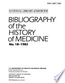 Bibliography Of The History Of Medicine