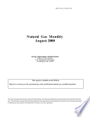 Natural Gas Monthly August 2000