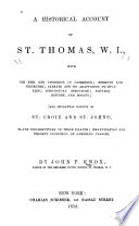 A historical account of St. Thomas, W.I.