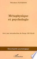 M  taphysique et psychologie