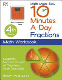 10 Minutes a Day  Fractions  Fourth Grade