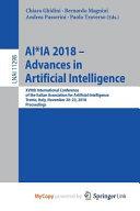 Ai Ia 2018 Advances In Artificial Intelligence