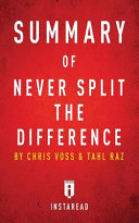 Ebook Summary of Never Split the Difference Epub Instaread Summaries Apps Read Mobile