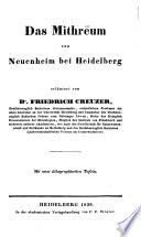Das Mithreum von Neuenheim bei Heidelberg