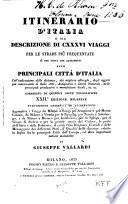Itinerario d Italia o sia descrizione di CXXXVI viaggi