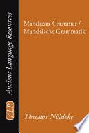 Mandaean Grammar   Mandaische Grammatik