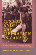 Lesbian And Gay Liberation In Canada