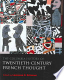 The Columbia History of Twentieth century French Thought