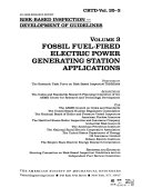 Risk based Inspection  Fossil fuel fired electric power generating station applications