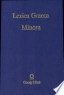 Lexica Graeca Minora