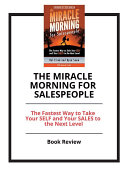 download ebook the miracle morning for salespeople: the fastest way to take your self and your sales to the next level pdf epub