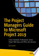 The Project Managers Guide to Microsoft Project 2019 Book PDF