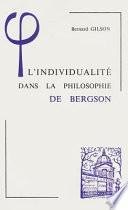 L'individualité dans la philosophie de Bergson