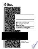 Development of Red Water Control Strategies