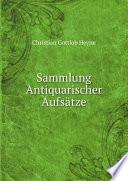 Sammlung Antiquarischer Aufs tze
