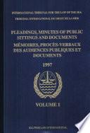 Mémoires, Procès-verbaux Des Audiences Publiques Et Documents