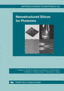 Nanostructured silicon for photonics