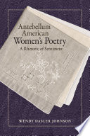 Antebellum American Women s Poetry