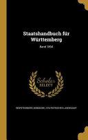 Staatshandbuch Fur Wurttemberg;